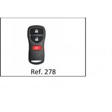 Capa Alarme Nissan 3 Botões ref 278