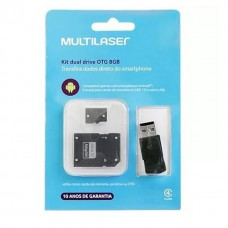 Kit Dual Drive Otg 8gb Android Multilaser Mc130