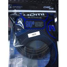 Cabo HDMI 2.0 4K UltraHD 3D Chip Sce 90º 5 M