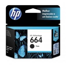 Cartucho de Tinta HP Ink Advantage 664 Preto