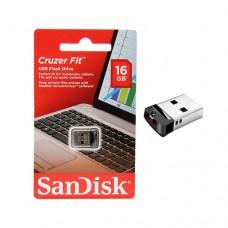 Pendrive SanDisk Cruzer Fit 16GB preto