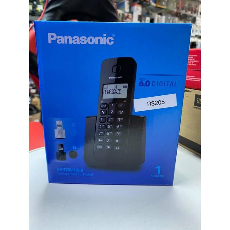 Telefone sem fio Panasonic DECT 6.0 Digital 1 Monofone KX-TGB110LB