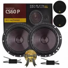 """Kit duas vias CS60P 6"""" Bravox"""