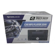 RÁDIO MP3 PLAYER 2 DIN TIGER AUTO COM APP E BLUETOOTH 4X45W TG-0403.010