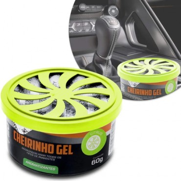 Aromatizante Gel Autocare Citrus 60G Pote Multilaser - AU439