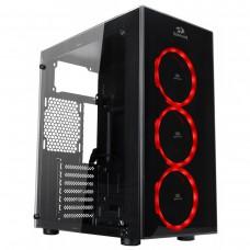 Gabinete Gamer Redragon Thundercracker, Mid Tower, Com 3 Fans RGB, Vidro Temperado, Black