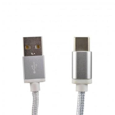 Cabo USB TIPO C  Fast Charging 1m EVUS C-059 Black