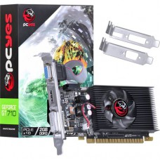 Placa De Vídeo Pcyes Nvidia Geforce Gt 710 2gb Gddr3 64 Bits Fan