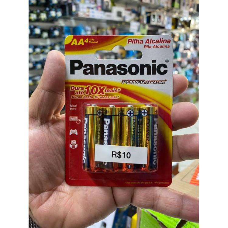 PILHA PANASONIC  AAA COM 4
