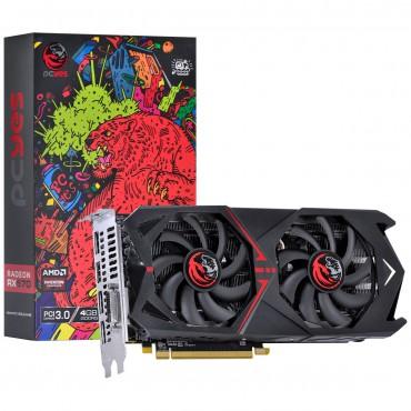 Placa de Vídeo PCyes Radeon RX 570 Dual Graffiti Series, 4GB GDDR5, 256Bit