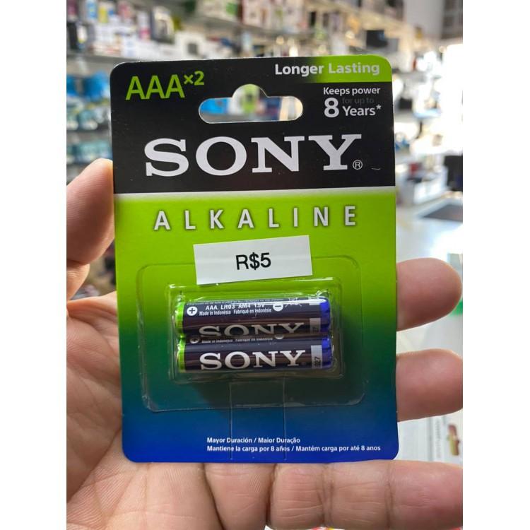 Pilha Alcalina AAA Sony - com 2 Unidades