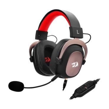 Headset Gamer Redragon Zeus 2 7.1 USB Preto c/ Vermelho H510-1